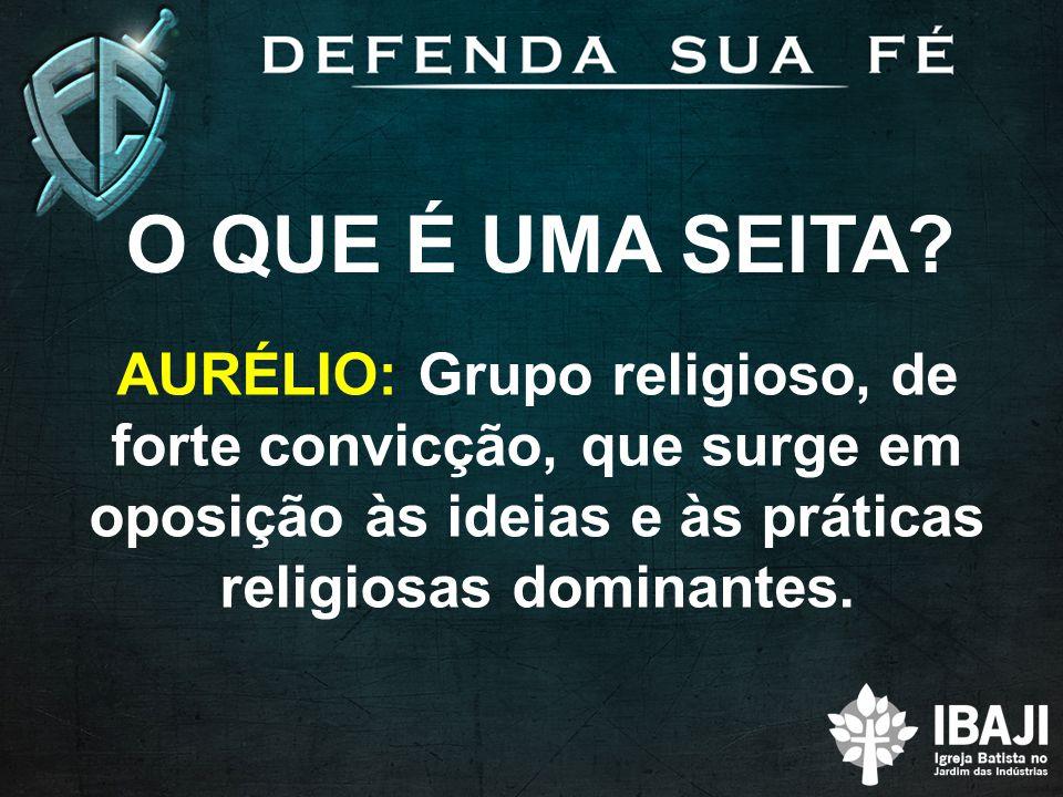 O QUE É UMA SEITA.