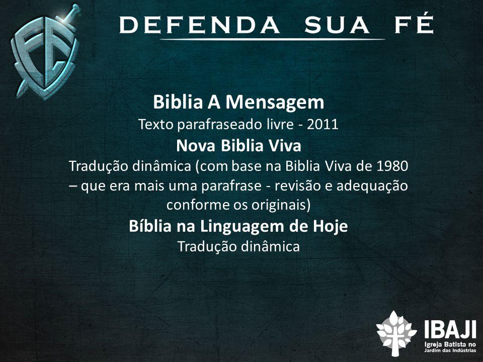 Bíblia na Linguagem de Hoje