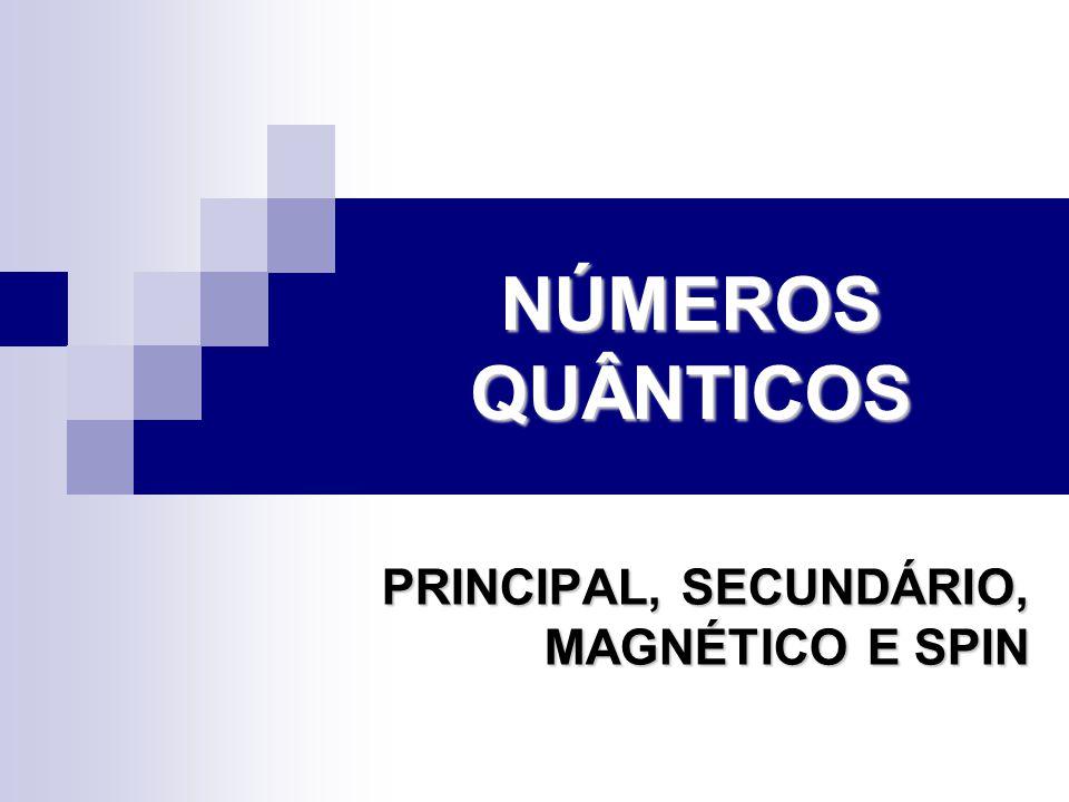 PRINCIPAL, SECUNDÁRIO, MAGNÉTICO E SPIN