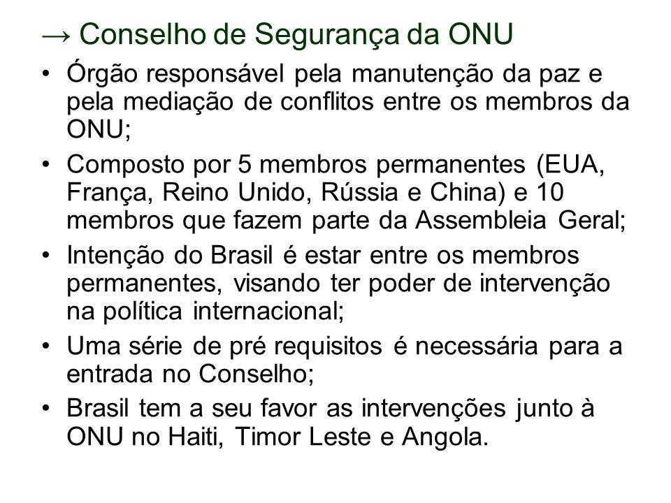 → Conselho de Segurança da ONU