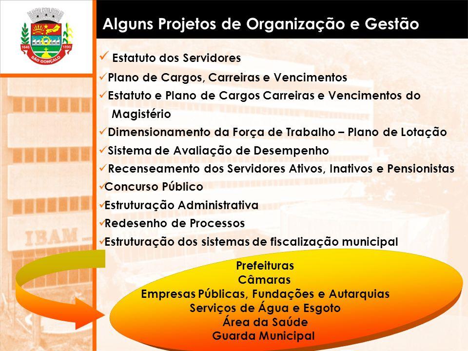 Alguns Projetos de Organização e Gestão
