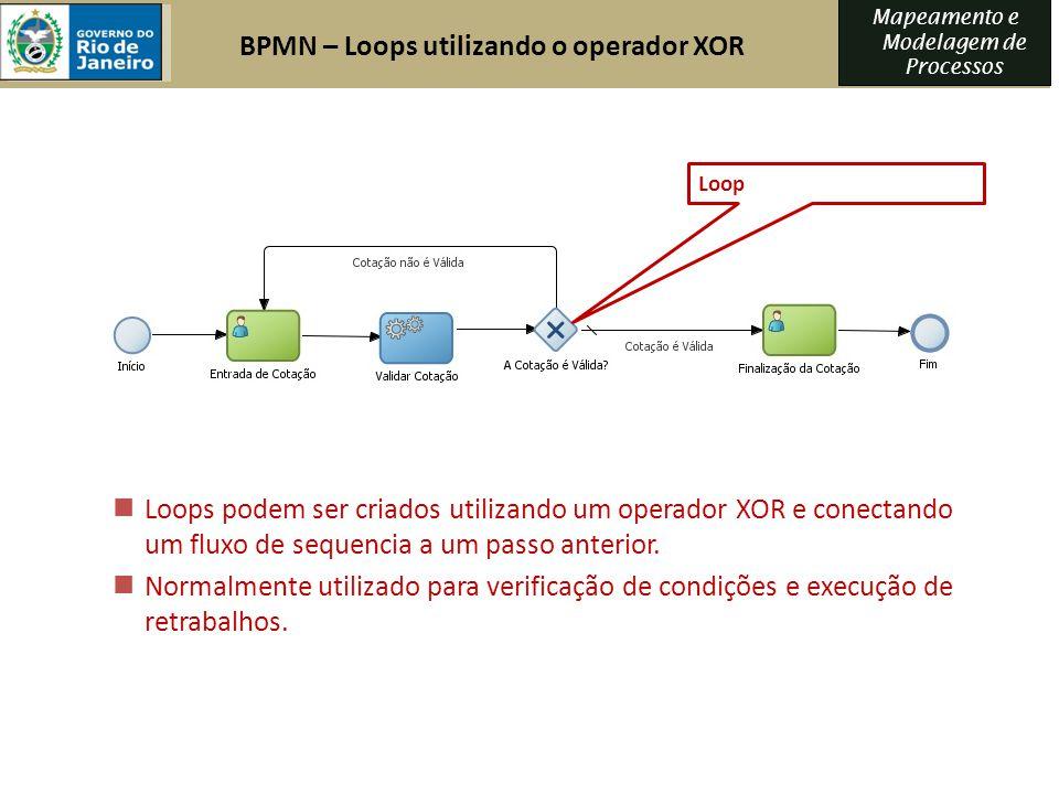 BPMN – Loops utilizando o operador XOR