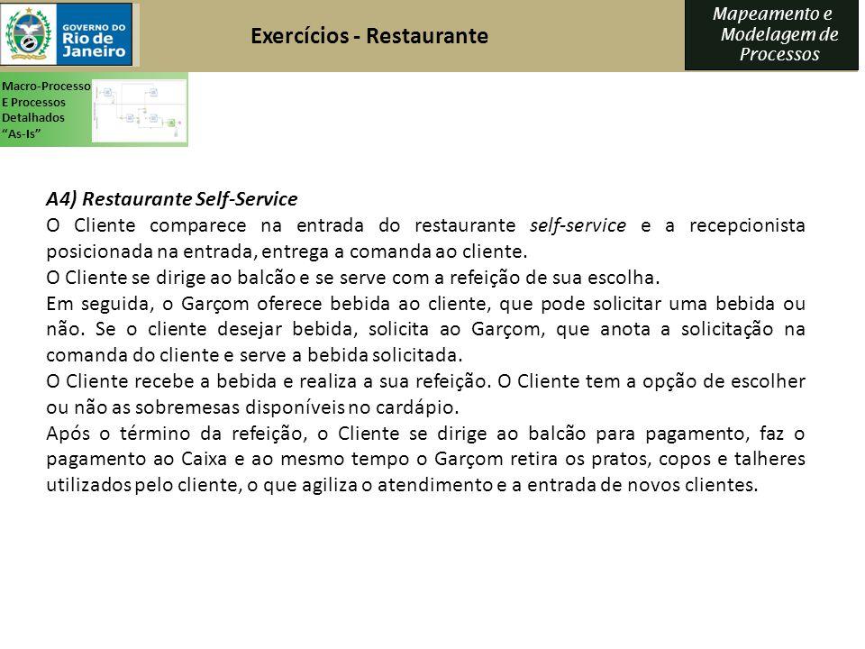 Exercícios - Restaurante
