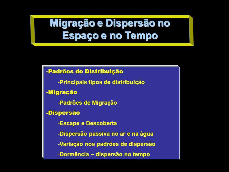 Migração e Dispersão no Espaço e no Tempo