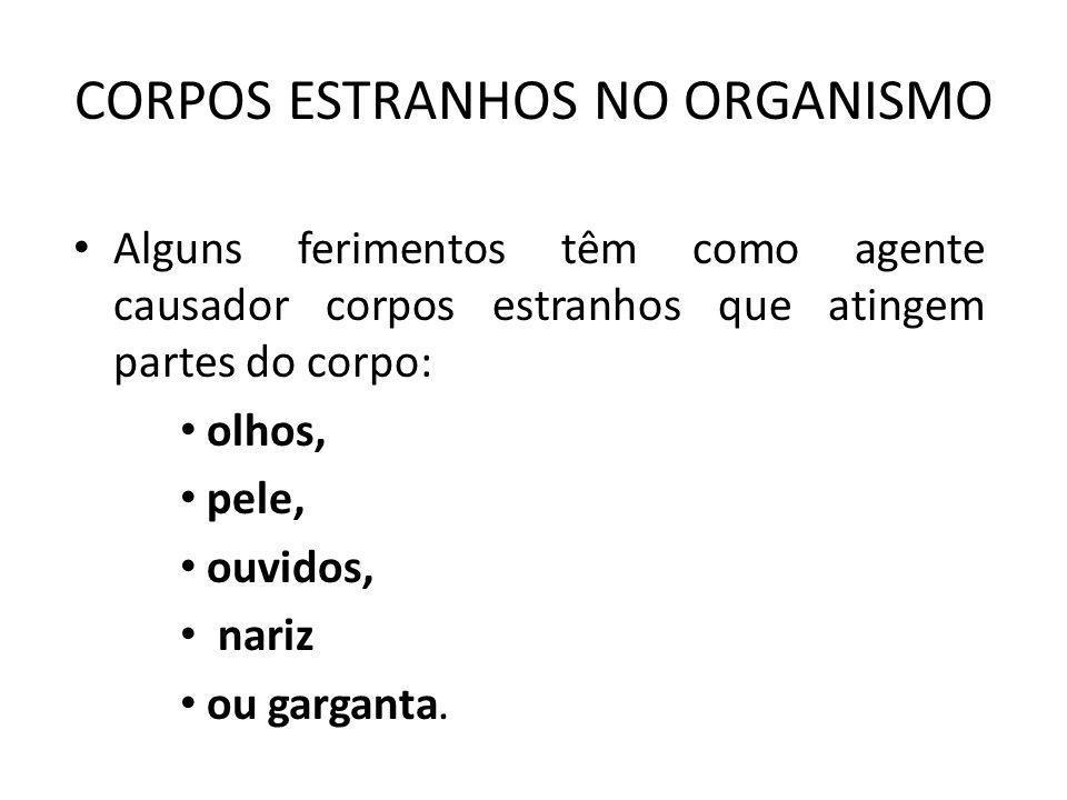 CORPOS ESTRANHOS NO ORGANISMO