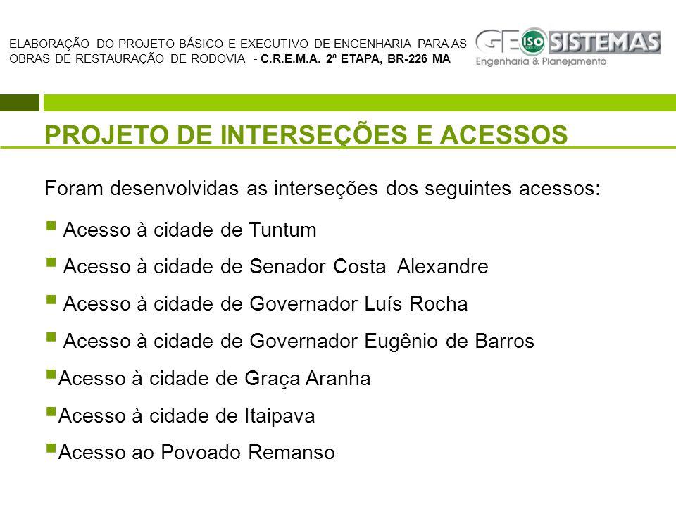 PROJETO DE INTERSEÇÕES E ACESSOS