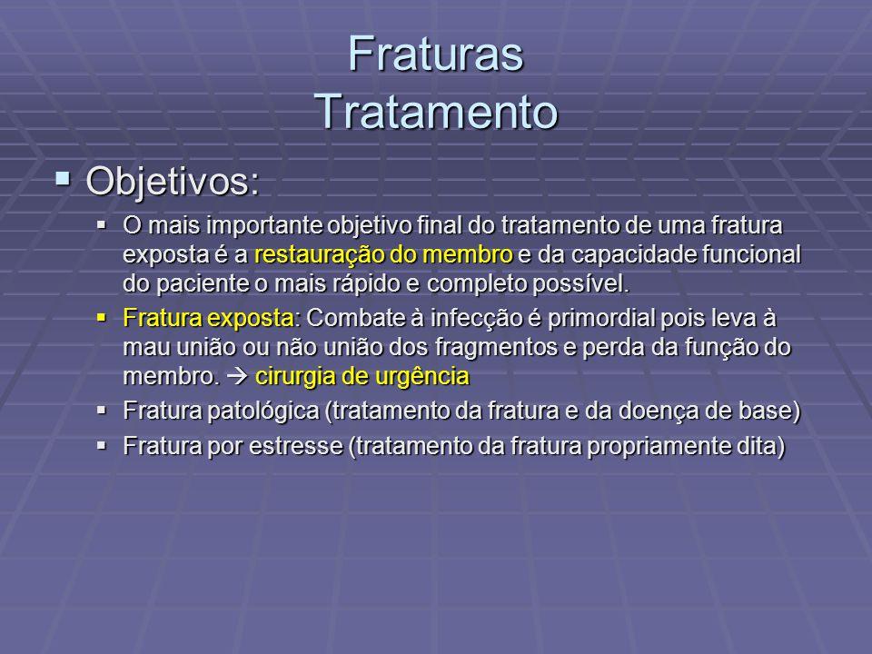 Fraturas Tratamento Objetivos: