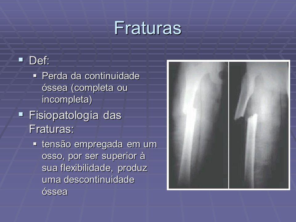 Fraturas Def: Fisiopatologia das Fraturas: