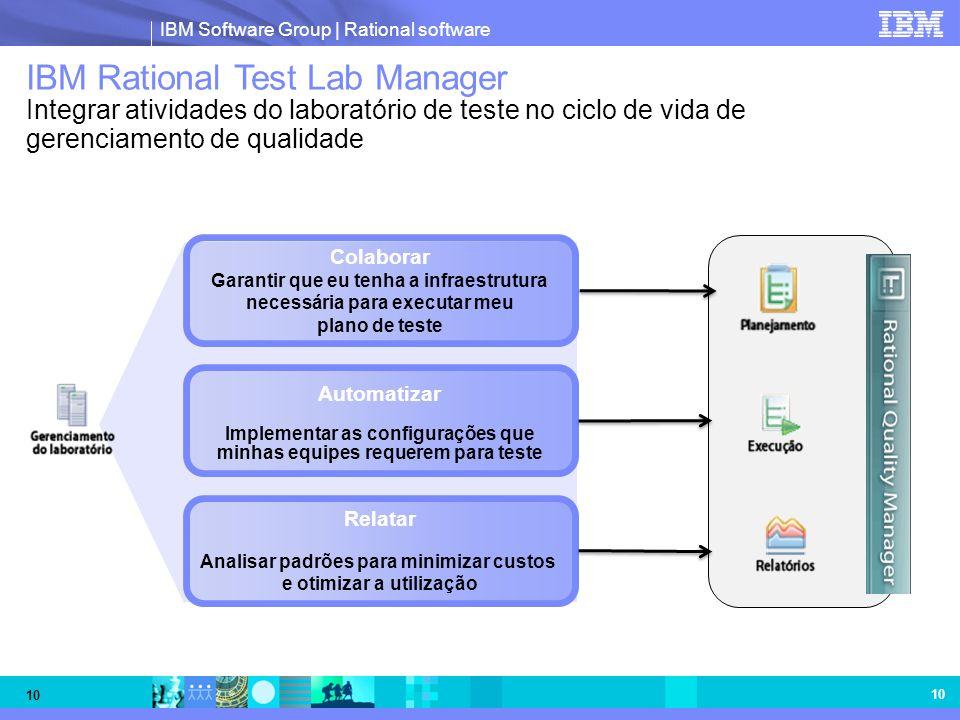 IBM Rational Test Lab Manager Integrar atividades do laboratório de teste no ciclo de vida de gerenciamento de qualidade