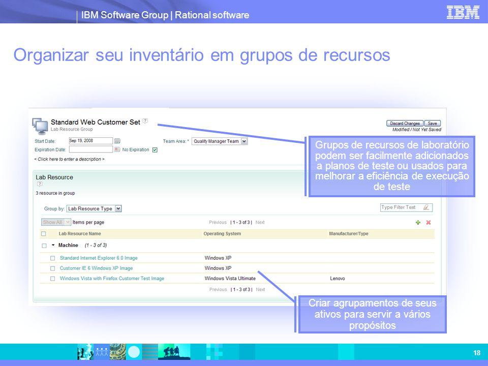 Organizar seu inventário em grupos de recursos