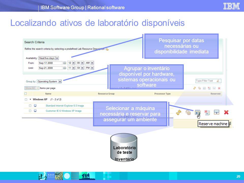 Localizando ativos de laboratório disponíveis