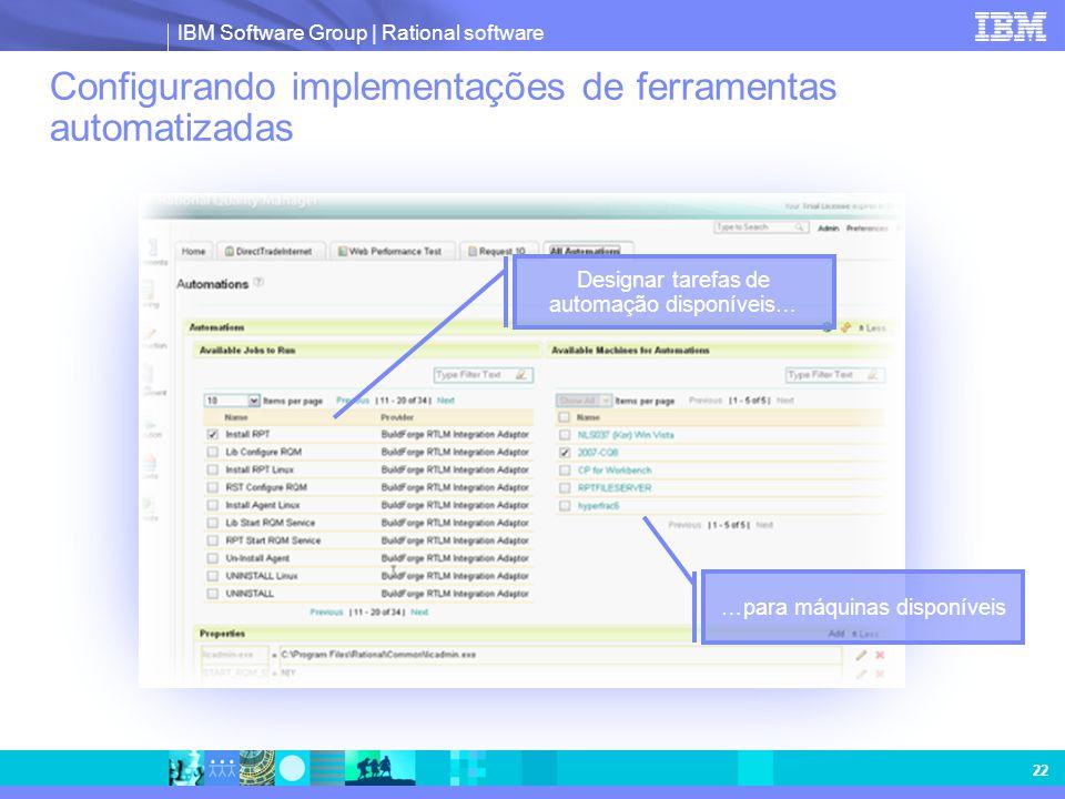 Configurando implementações de ferramentas automatizadas
