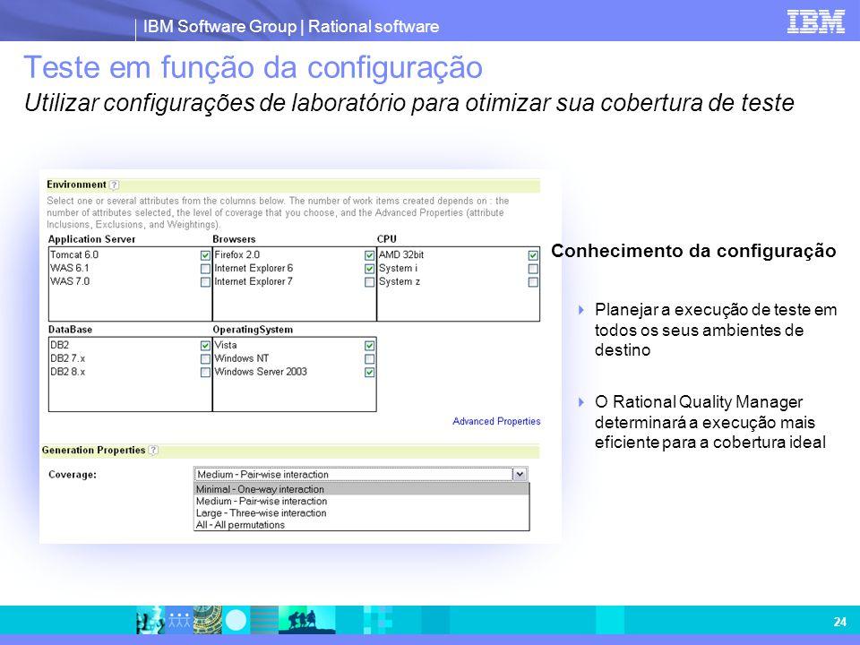 Teste em função da configuração Utilizar configurações de laboratório para otimizar sua cobertura de teste