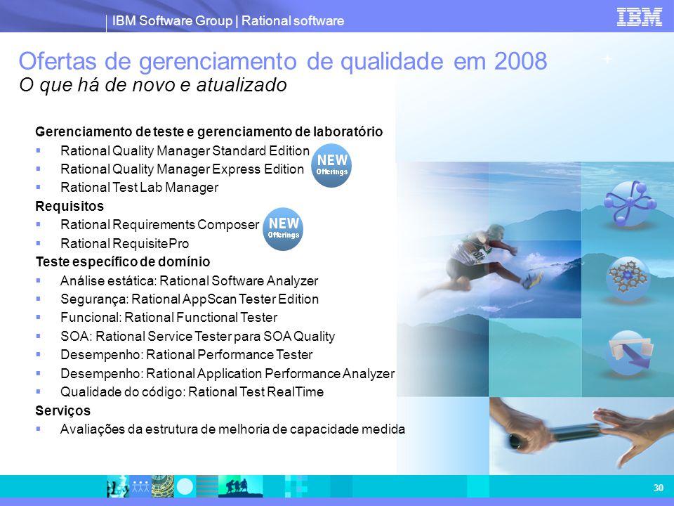 Ofertas de gerenciamento de qualidade em 2008 O que há de novo e atualizado