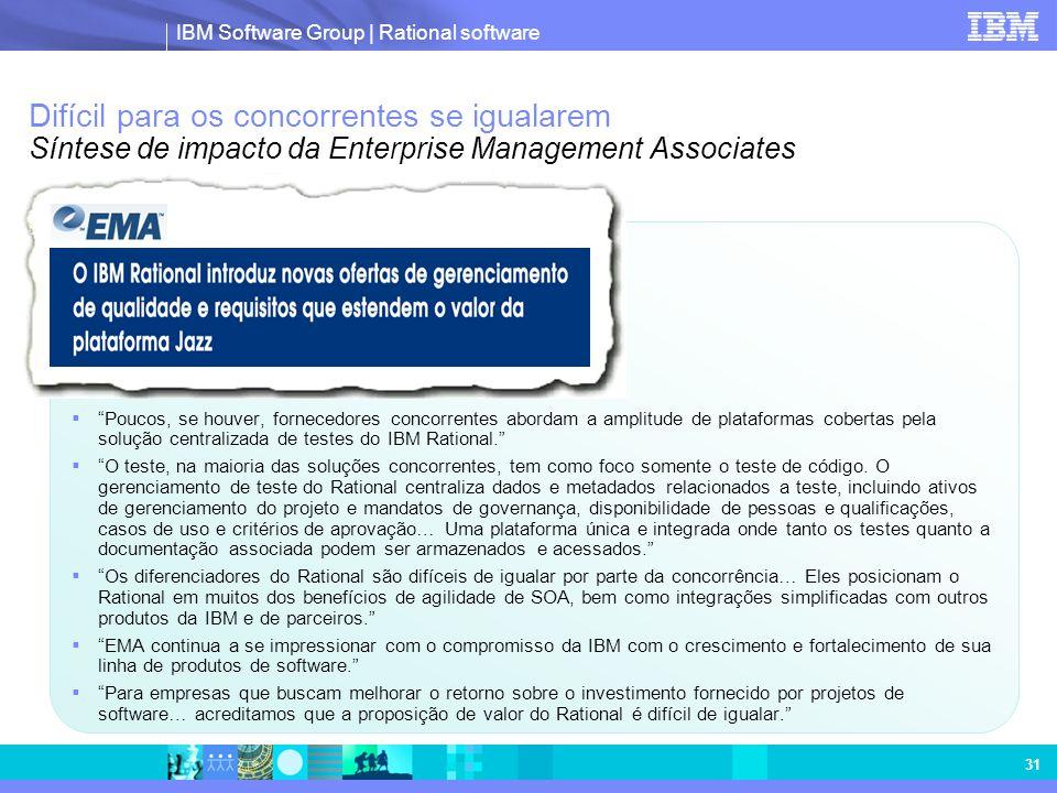 Difícil para os concorrentes se igualarem Síntese de impacto da Enterprise Management Associates
