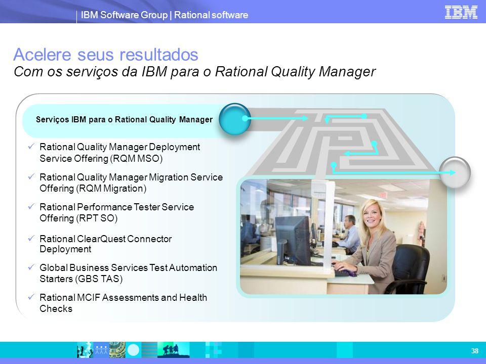 Acelere seus resultados Com os serviços da IBM para o Rational Quality Manager
