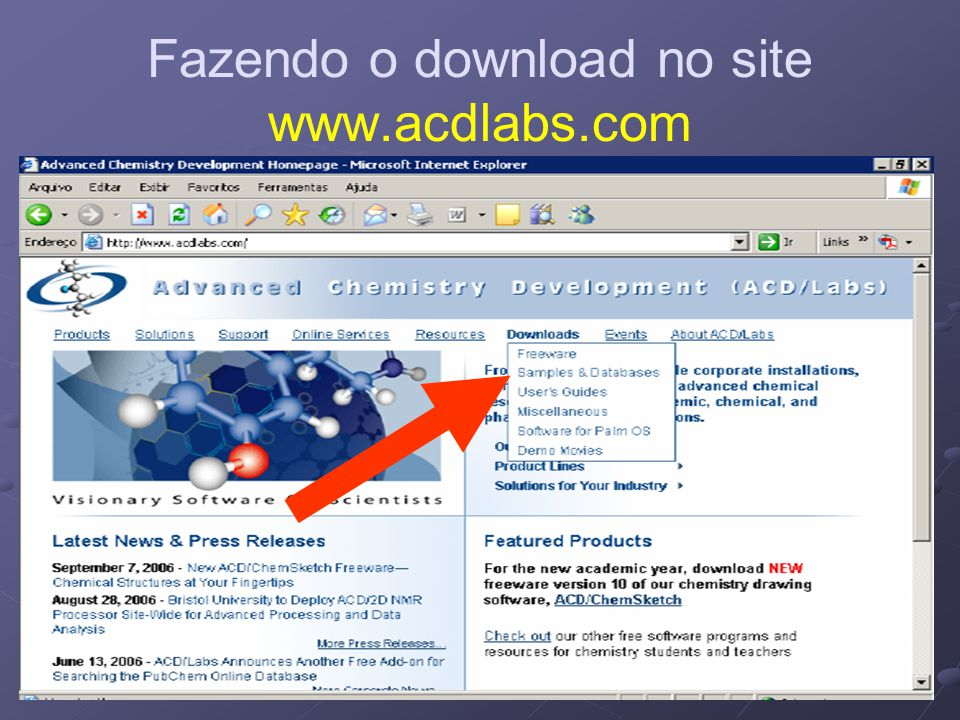 Fazendo o download no site www.acdlabs.com