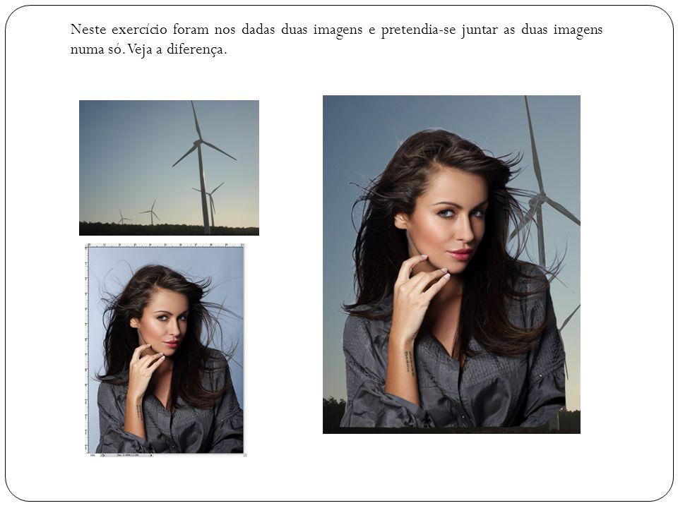 Neste exercício foram nos dadas duas imagens e pretendia-se juntar as duas imagens numa só.