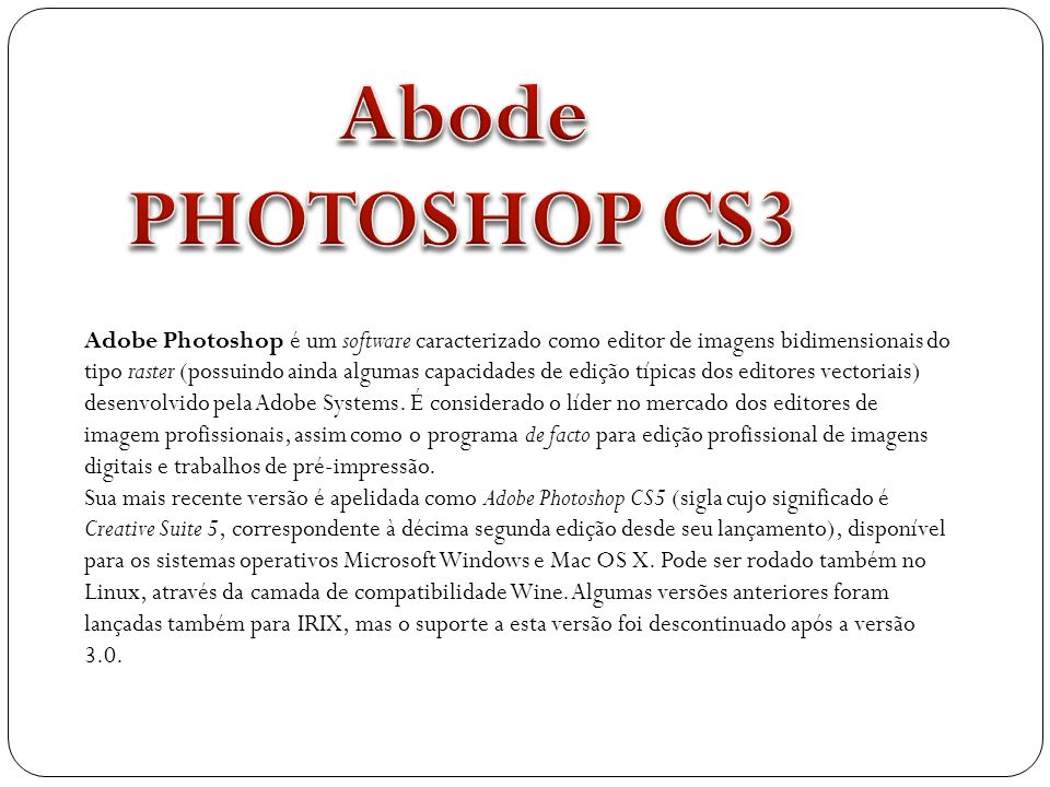 Abode PHOTOSHOP CS3