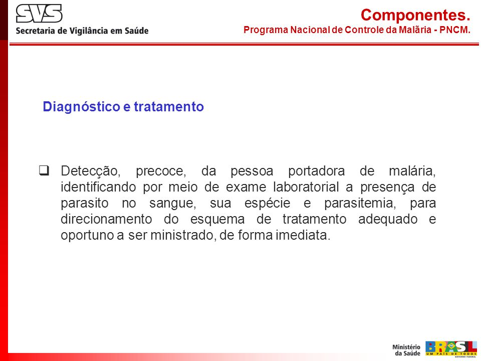 Componentes. Diagnóstico e tratamento