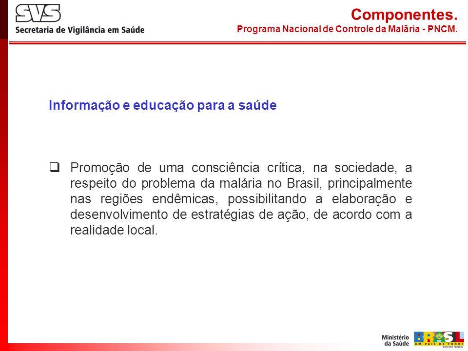 Componentes. Informação e educação para a saúde