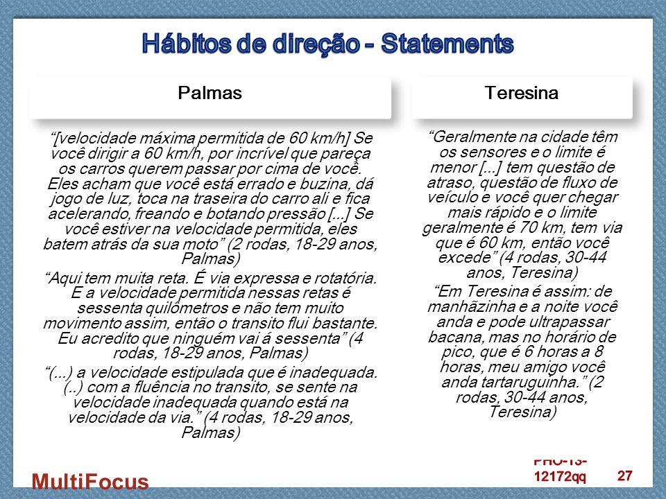 Hábitos de direção - Statements