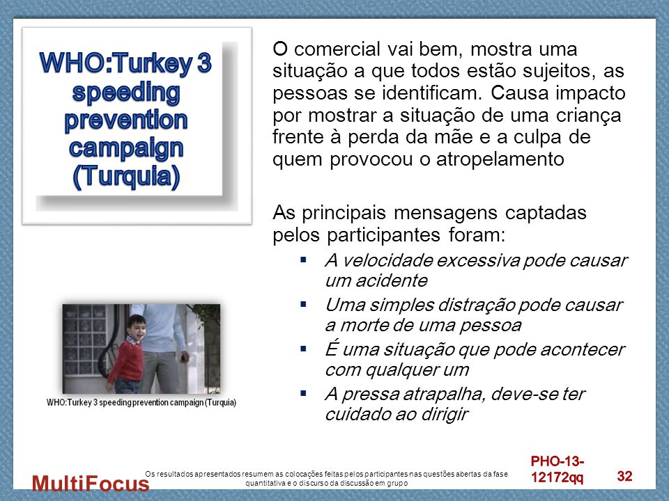 WHO:Turkey 3 speeding prevention campaign (Turquia)