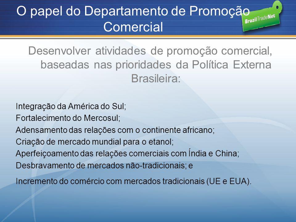 O papel do Departamento de Promoção Comercial