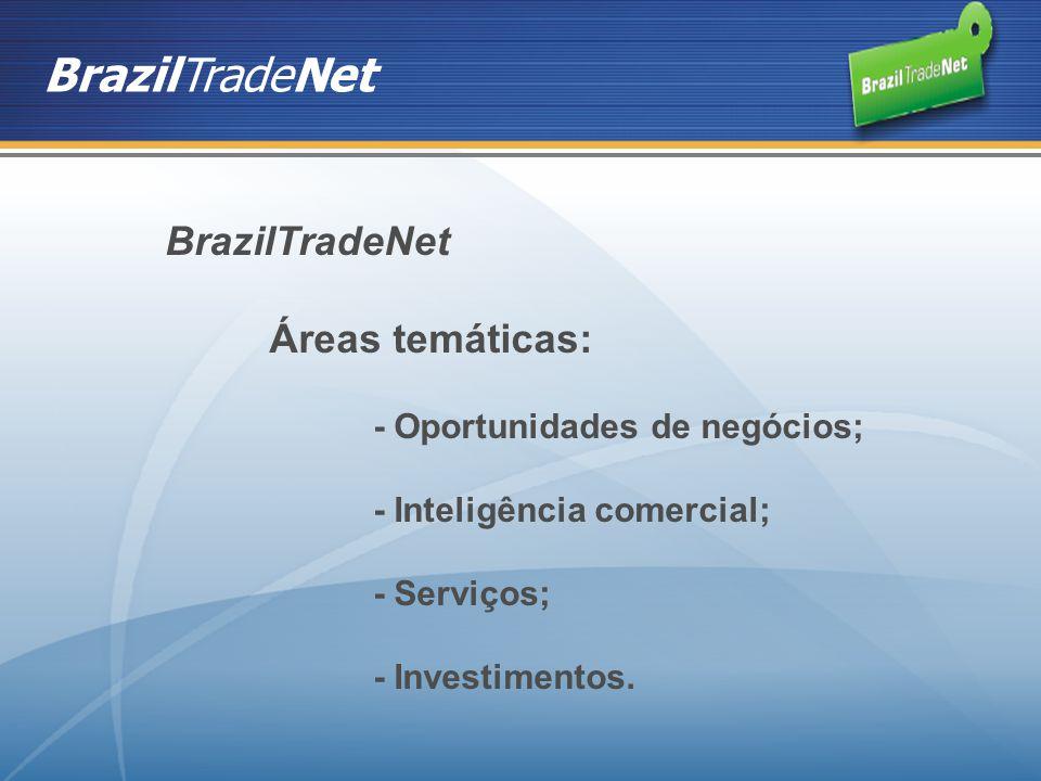 BrazilTradeNet BrazilTradeNet Áreas temáticas: