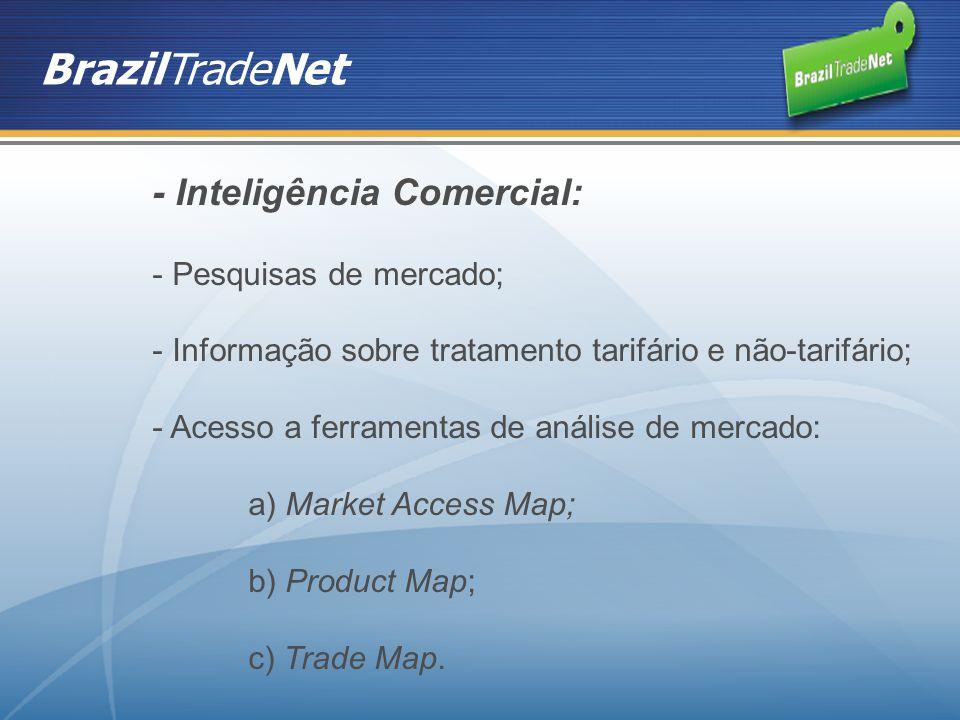 BrazilTradeNet - Inteligência Comercial: Pesquisas de mercado;