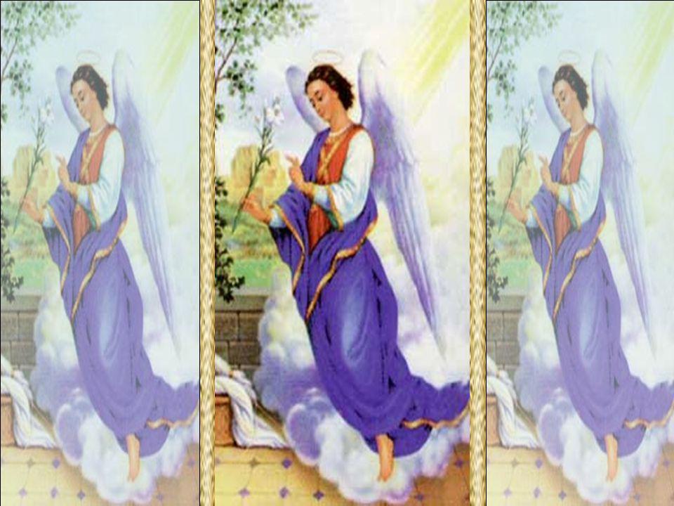 O Arcanjo Gabriel aparece aos homens para lhes transmitir a Palavra divina. Anuncia gratas notícias. Quando se despede de Zacarias após anunciar o nascimento de João, diz: