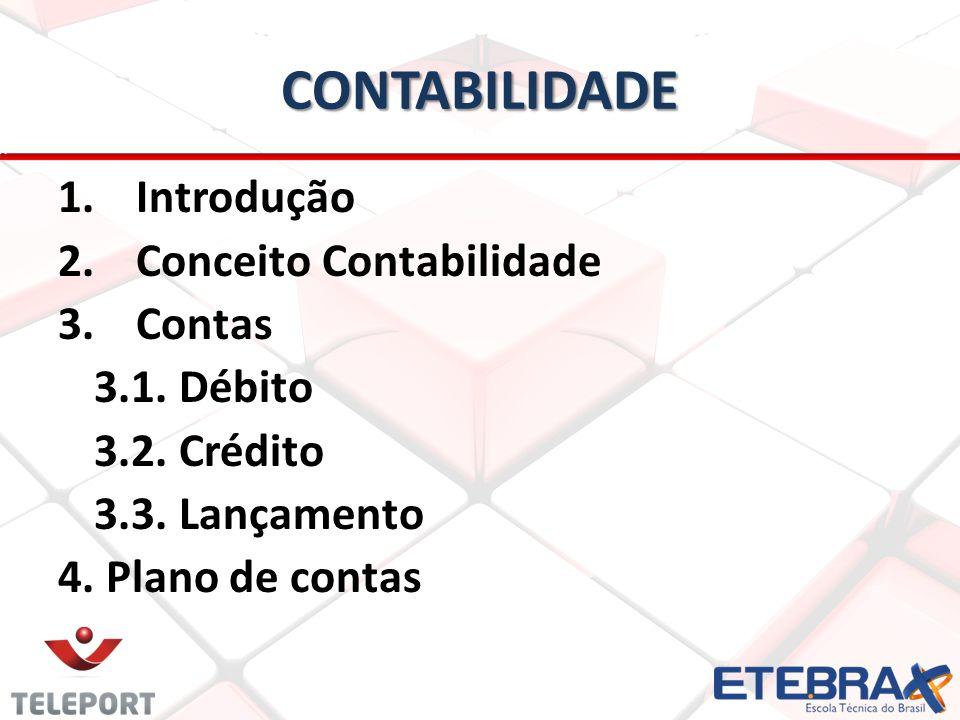 CONTABILIDADE Introdução Conceito Contabilidade Contas 3.1. Débito
