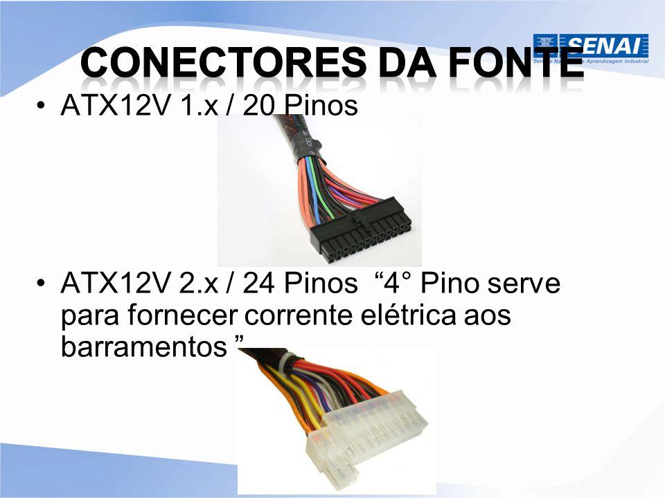 Conectores da Fonte ATX12V 1.x / 20 Pinos