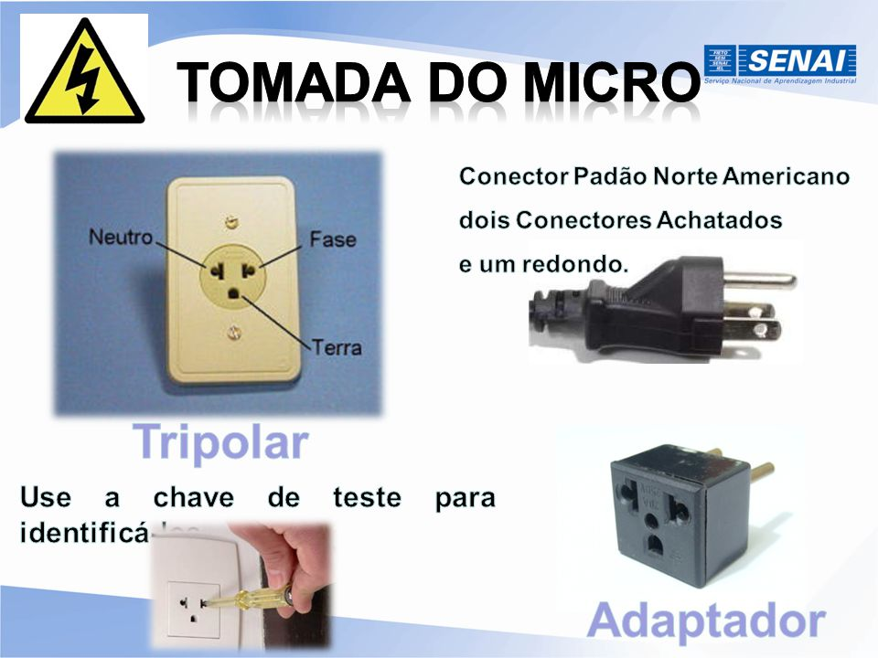 TOMADA DO MICRO Tripolar Adaptador