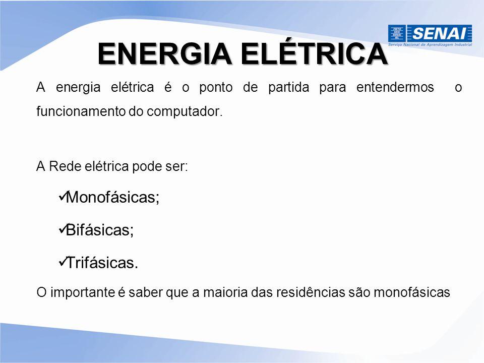 ENERGIA ELÉTRICA Monofásicas; Bifásicas; Trifásicas.