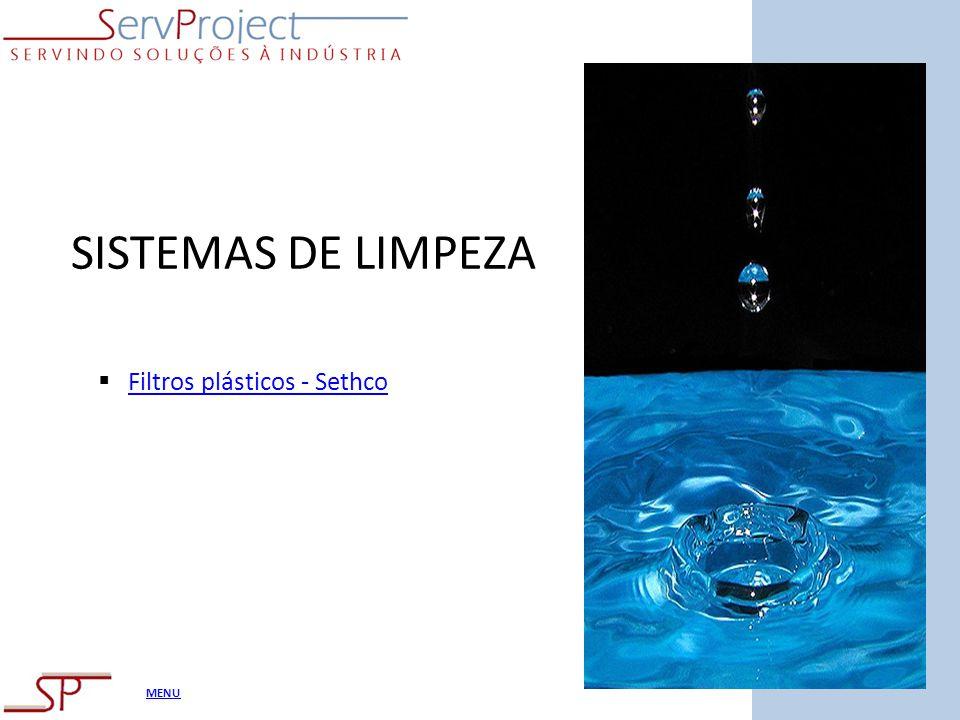SISTEMAS DE LIMPEZA Filtros plásticos - Sethco
