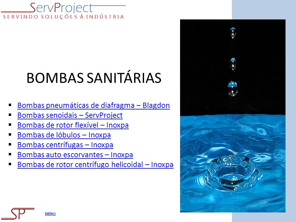 BOMBAS SANITÁRIAS Bombas pneumáticas de diafragma – Blagdon