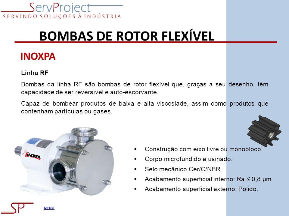 BOMBAS DE ROTOR FLEXÍVEL