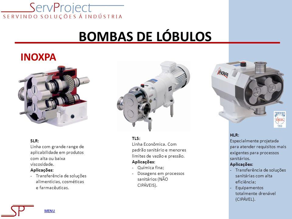 BOMBAS DE LÓBULOS INOXPA HLR: TLS: