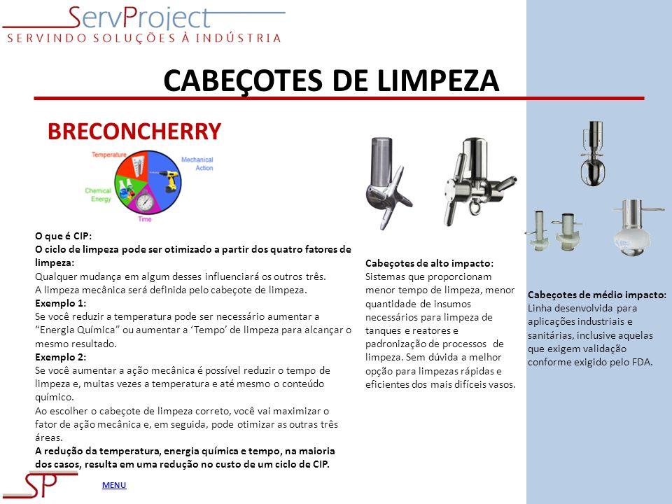 CABEÇOTES DE LIMPEZA BRECONCHERRY O que é CIP: