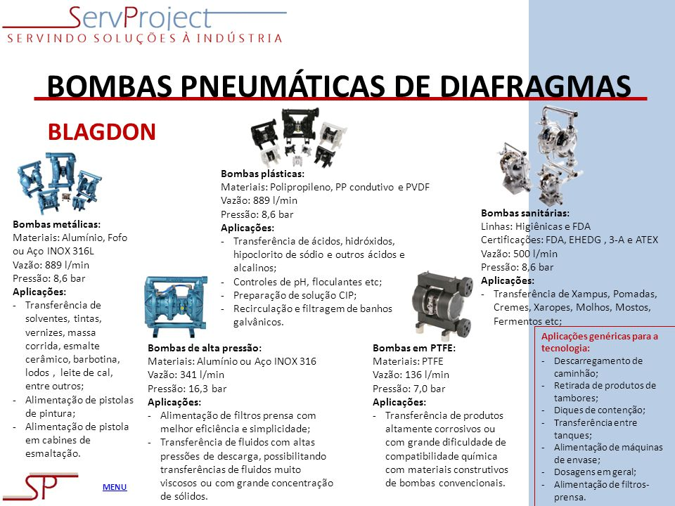 BOMBAS PNEUMÁTICAS DE DIAFRAGMAS
