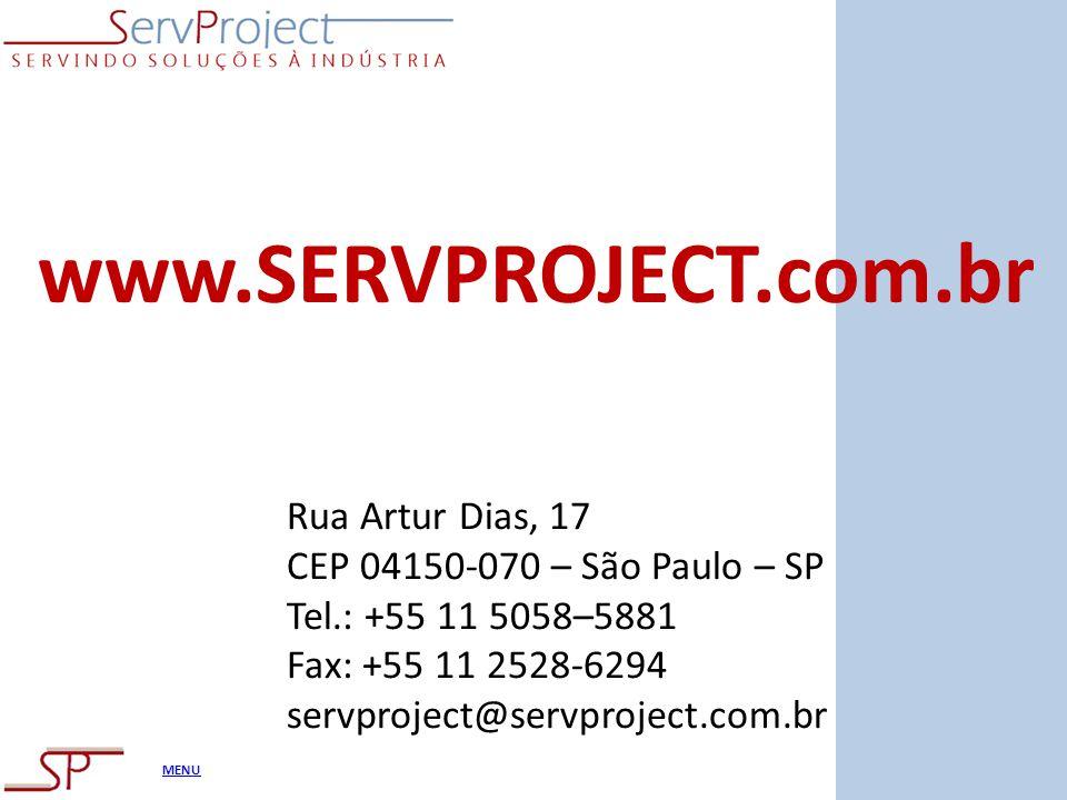 www.SERVPROJECT.com.br Rua Artur Dias, 17