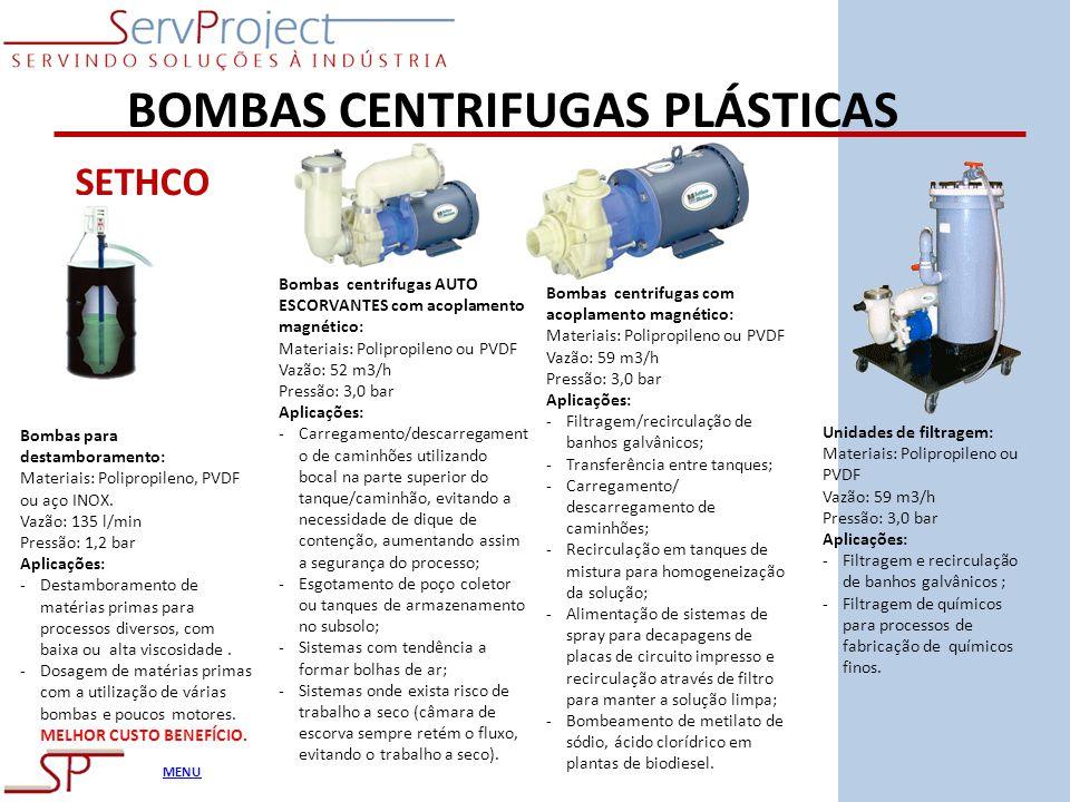 BOMBAS CENTRIFUGAS PLÁSTICAS