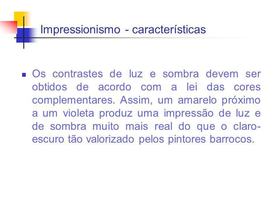 Impressionismo - características