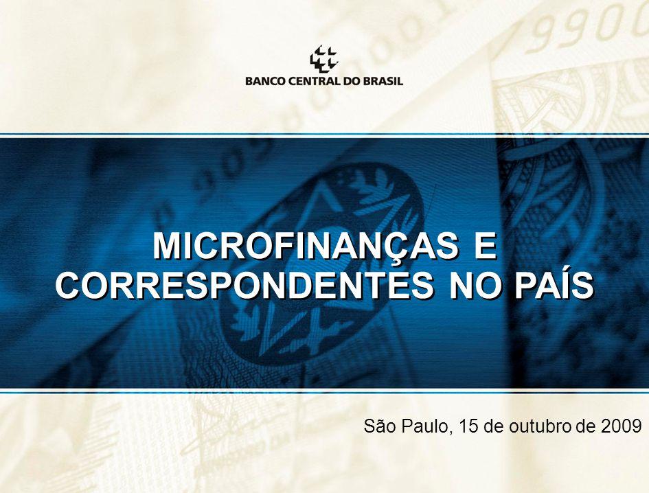 MICROFINANÇAS E CORRESPONDENTES NO PAÍS