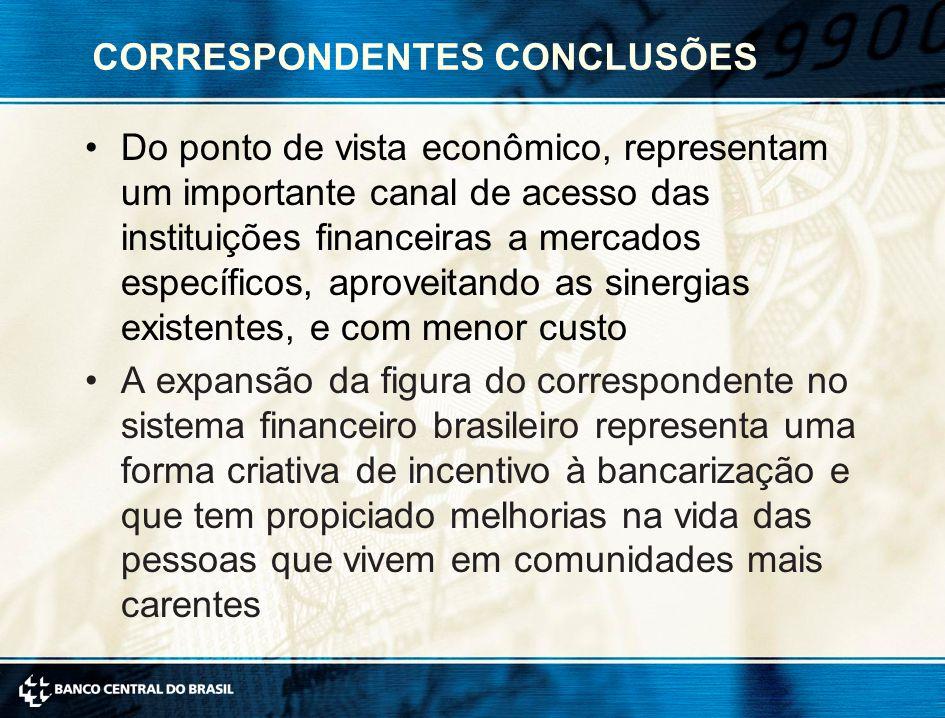 CORRESPONDENTES CONCLUSÕES