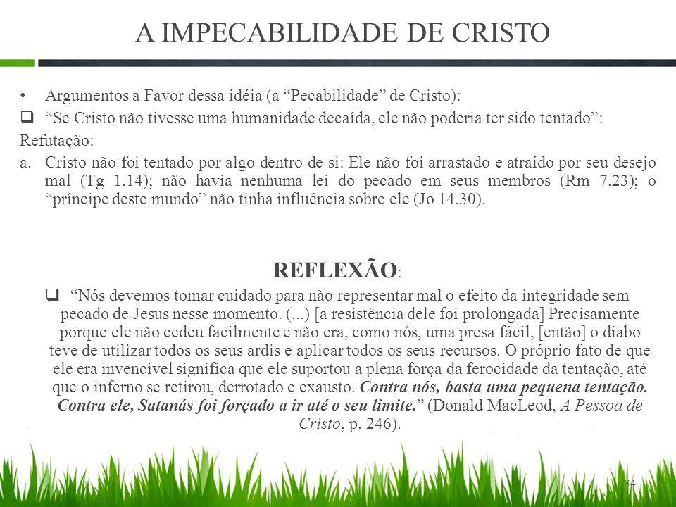 A IMPECABILIDADE DE CRISTO
