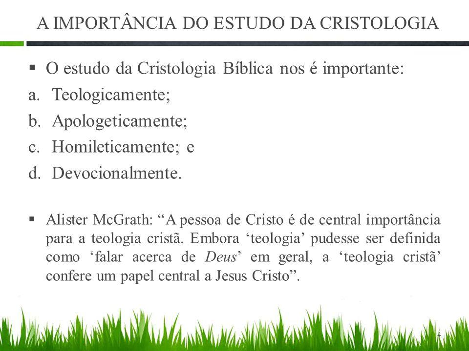 A IMPORTÂNCIA DO ESTUDO DA CRISTOLOGIA