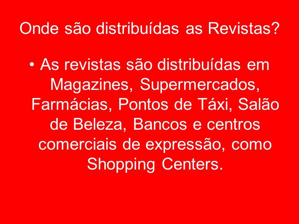 Onde são distribuídas as Revistas