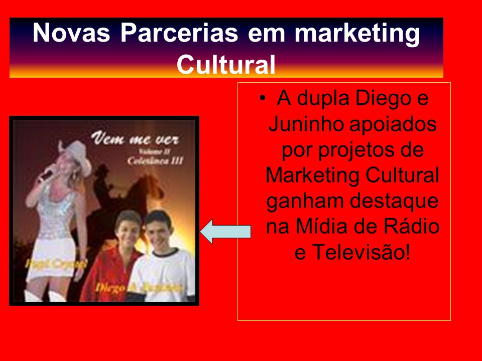 Novas Parcerias em marketing Cultural